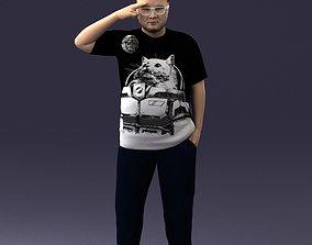 Fat man in t-shirt 1121 3D Print Ready