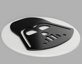3D printable model Coaster Darth Vader