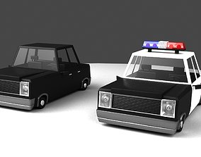 Cartoon Car 3D vray