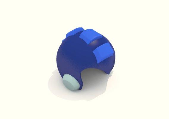 Cartoon Robot Helmet Model CRH2