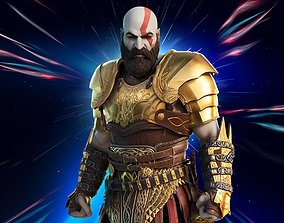 Kratos God Of War 3d Print Model STL rigged