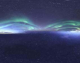 3D Skydome HDRI - Northern Lights and Stars