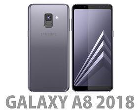 Samsung Galaxy A8 2018 Orchid Grey 3D model