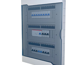 Electrical panel Fuse Box 3D model