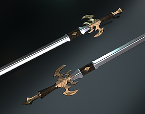 3D asset low-poly Master Sword