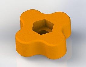3D printable model hand knob
