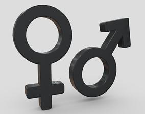 3D model realtime Gender Symbols