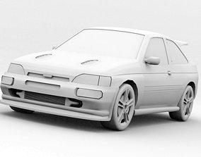 3D asset Compact car