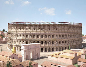 3D Roman Colosseum High detailed coloseum
