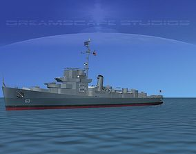 3D model Destroyer Escort DE-63 USS Ira Jeffery