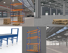 3D Warehouse and Pallet and Rack Collection