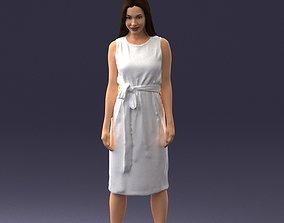 Fashion woman in evening dress 0714-12 3D Print Ready
