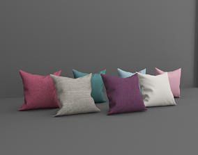 seating 3D model Pillow Set