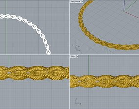 jewelry 3D print model Necklace Rope