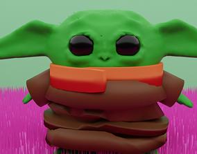 3D model Baby Yoda Rigged Character