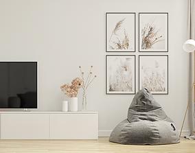 Small Apartment Design Scandinavian 3D model