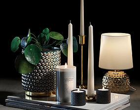 Decorative set 004 furniture 3D model