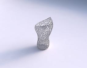 Vase vortex smooth with lattice tiles 3D print model