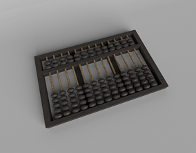 3D model Chinese Abacus v1 001