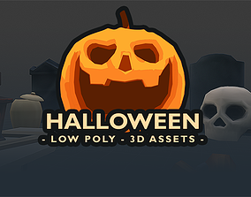 Halloween - Low Poly 3D assets game-ready