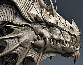 3D print model Dragon bust