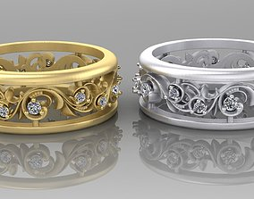 Rings with pattern 3D print model