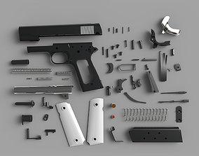 3D model military 1911 Pistol Colt M1911 M1911A1