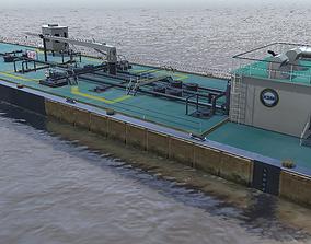 KSM barge 3d model low-poly