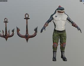 Killer Shark Low poly 3D model