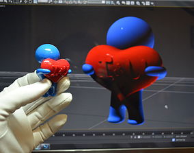 3D print model Man with heart