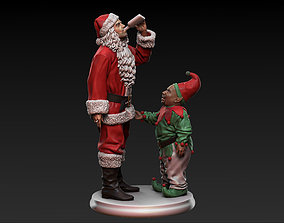 Bad Santa movie characters Willie and 3D print model 1