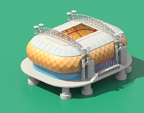 3D model Stadium in Amsterdam Johan Cruijff ArenA