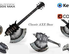 3D ELECTRIC GUITAR - Axe guitar Bass