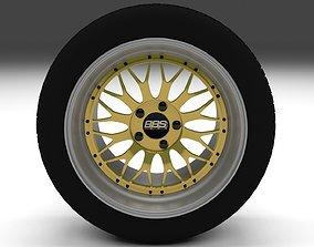 3D model BBS Wheel Gold