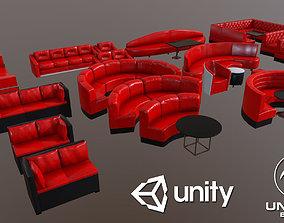 3D model low-poly Modern sofas