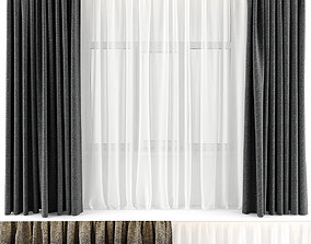 CURTAINS GREY 3D model