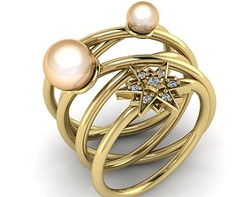 Ring with pearl stone Model 1211 rings