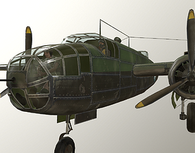 USA Army B-25 Michele Bomber 3D model