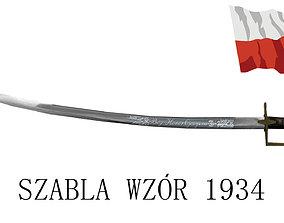 Polish Saber 1934 3D model