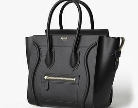 Celine Luggage Handbag Black 3D model