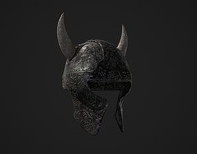 Medieval Viking Helmet 3D asset