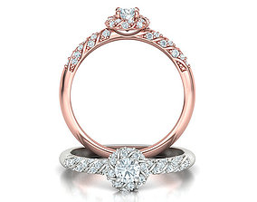 Delicate Promise Ring Twist Style Own design 3dmodel