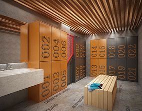 athlete locker room 3D model
