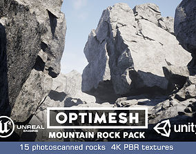 Mountain Rocks - 3D Models PBR Pack game-ready