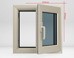 3D Window plastic casement 01