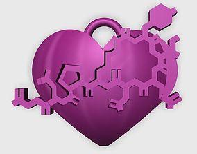 3D printable model Oxytocin Heart Pendant
