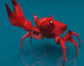 Low-Poly Crab 3D asset