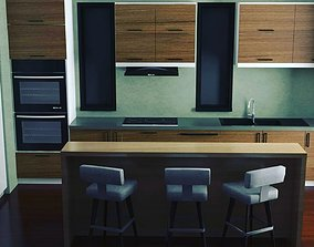 3D rigged Interior Design Kitchen