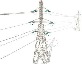 3D asset Electricity Pole 31
