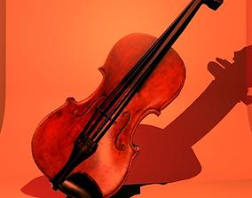3D asset violin